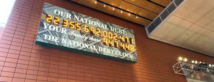 National Debt Clock is one of New York Best: Sights & activities.