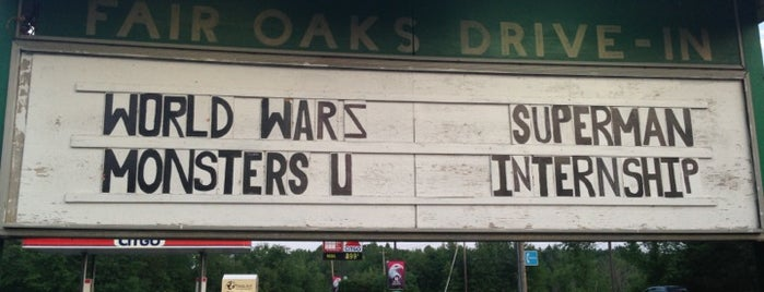 Fair Oaks Drive In Theater is one of TAKE ME TO THE DRIVE-IN, BABY.