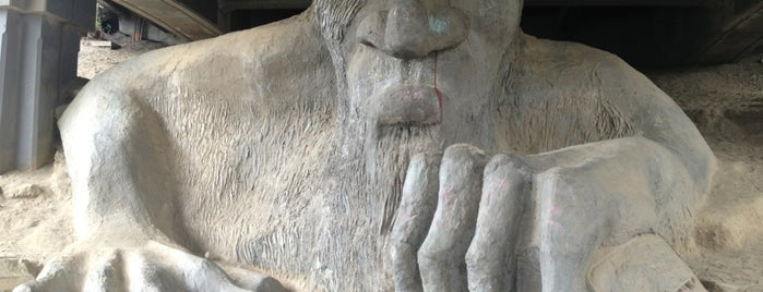 The Fremont Troll is one of Seattle.