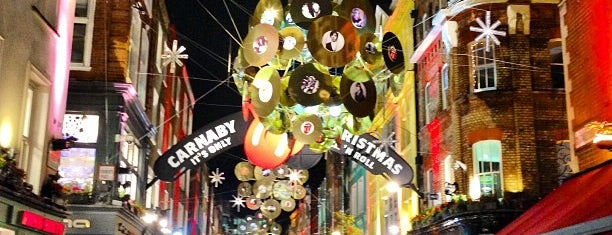Carnaby Street is one of london -.