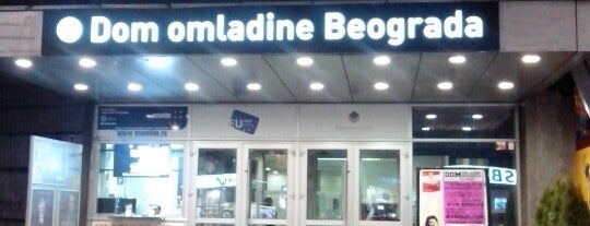 Dom omladine Beograda is one of Orte, die Zoja gefallen.