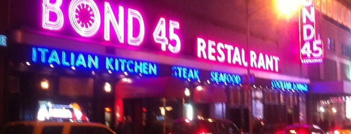 Bond 45 is one of NYC spots.