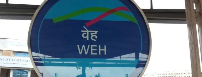 Western Express Highway Metro Station is one of Line 1 (Mumbai Metro).