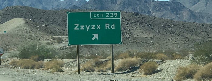Zzyzx Road is one of LV.
