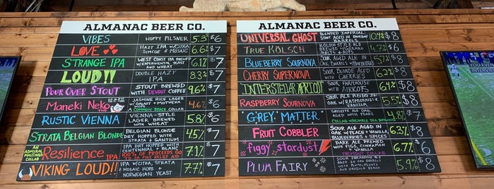 Almanac Beer Co. Barrel House & Taproom is one of CA Northern Breweries.