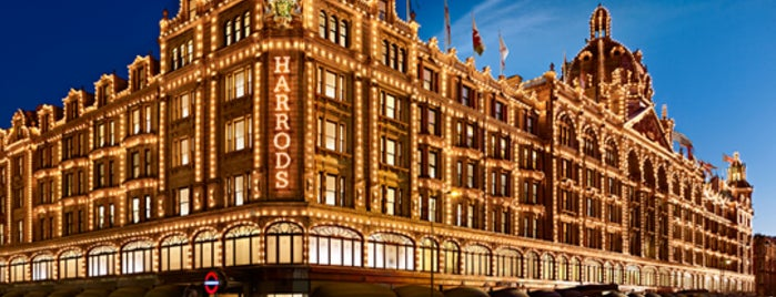Harrods is one of London for P' Arenui.