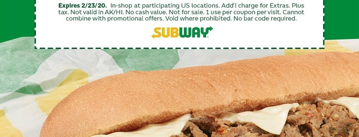 Subway is one of Eats.