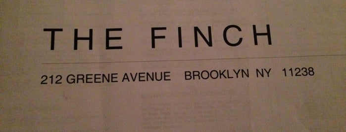 The Finch is one of Brooklyn.