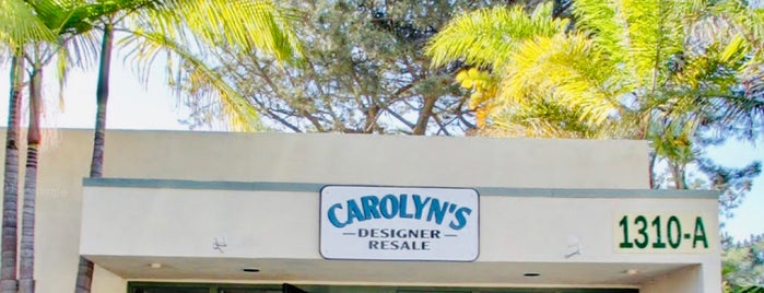 Carolyn's Designer Resale is one of Del Mar Boutique Shopping.