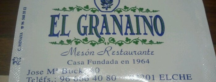 El Granaino is one of Top 10 favorites places in Elche, España.