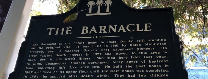 The Barnacle Historic State Park is one of Miami.