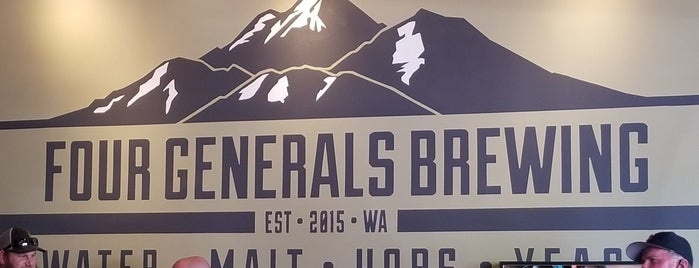 Four Generals Brewing is one of Seattle Breweries.