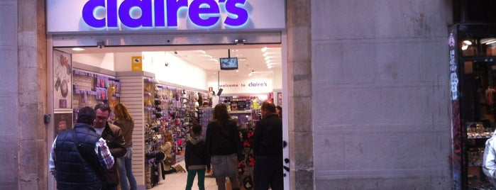 Claire's is one of Barceloca.