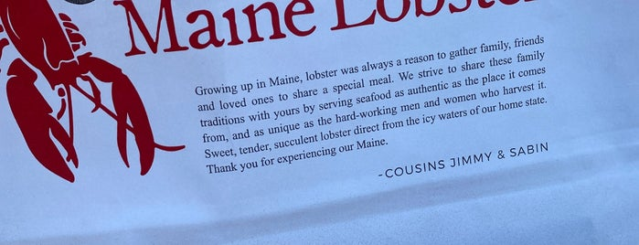 Cousins Maine Lobster is one of Places To Go!.