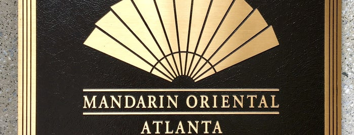 Mandarin Oriental, Atlanta is one of Atlanta At Its Best.