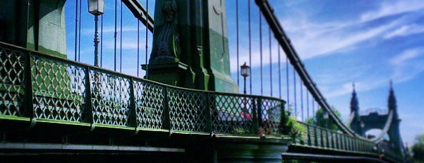 Hammersmith Bridge is one of if you're ever in ____.