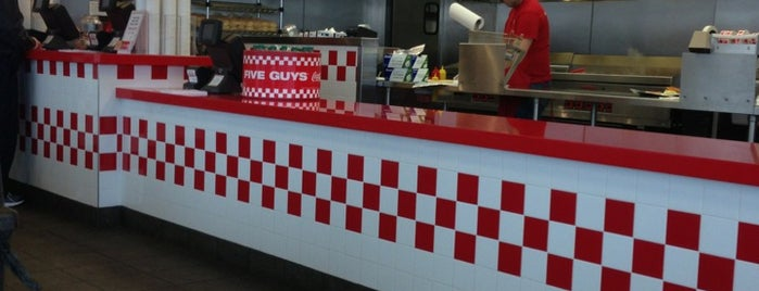 Five Guys is one of Favorite Lunch Spots.