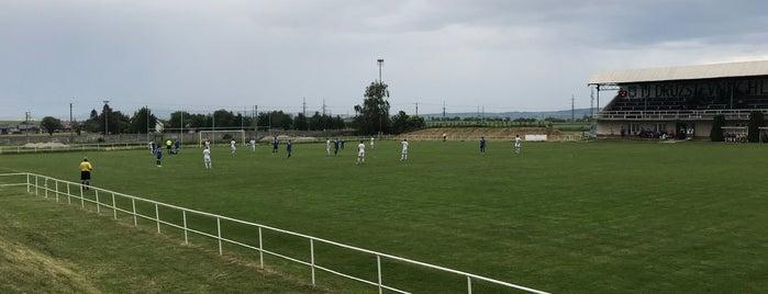 Futbalový štadión Hlboké is one of Futbalové štadióny ObFZ Senica.