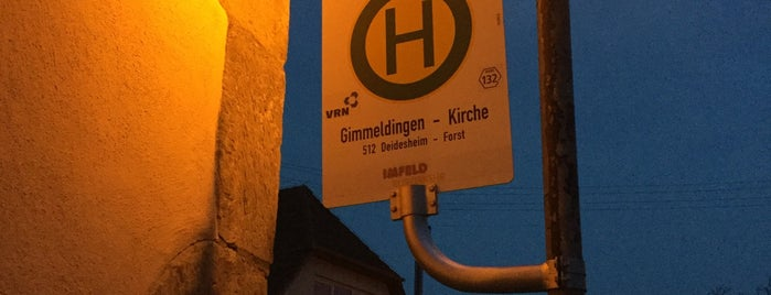 H Gimmeldingen-Kirche is one of Kaputte Haltestellen MA & Umgebung.
