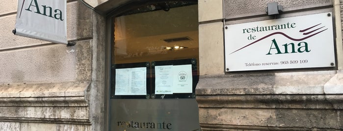 Restaurante Ana is one of Valencia.