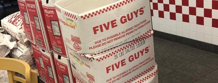 Five Guys is one of restaurants.