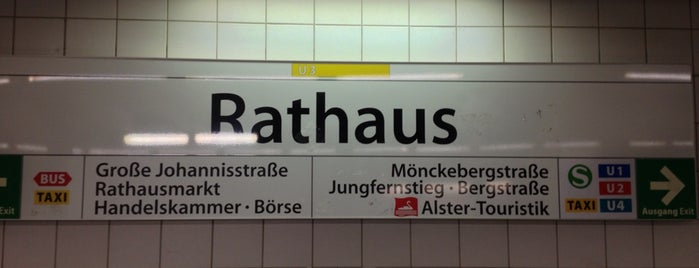 U Rathaus is one of Alles in Hamburg.