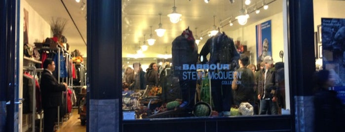 Barbour is one of NYC Men's Shops.