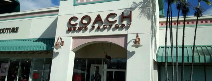 COACH Outlet is one of Hawaii Omiyage.