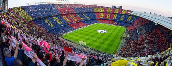 Camp Nou is one of Barclona برشلونه.