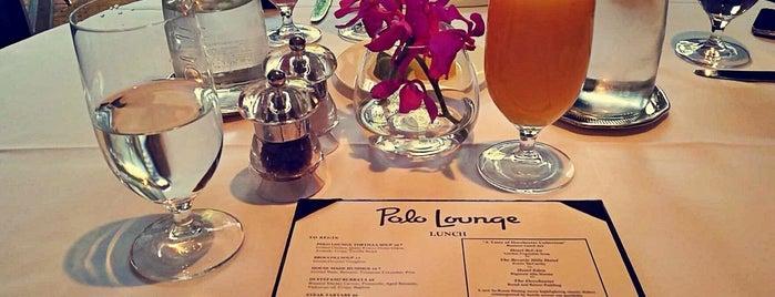 Polo Lounge Beverly Hills Hotel is one of S'ın Beğendiği Mekanlar.