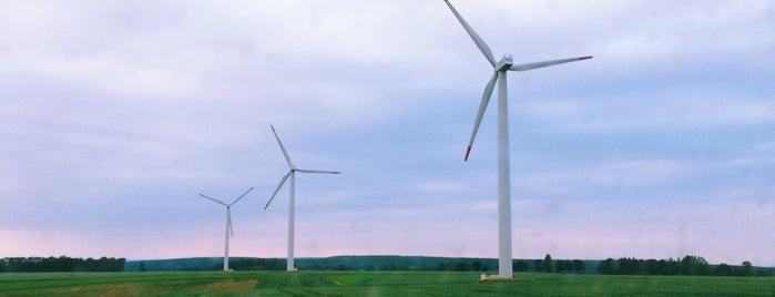 Větrné elektrárny Ostrý Kámen is one of David 님이 좋아한 장소.
