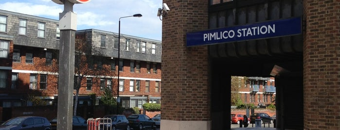 Pimlico London Underground Station is one of Railway stations visited.