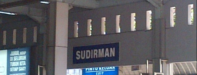 Stasiun Sudirman is one of Jakarta. Indonesia.