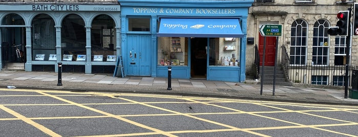 Topping & Company Booksellers is one of London/Bath BRIDGES.