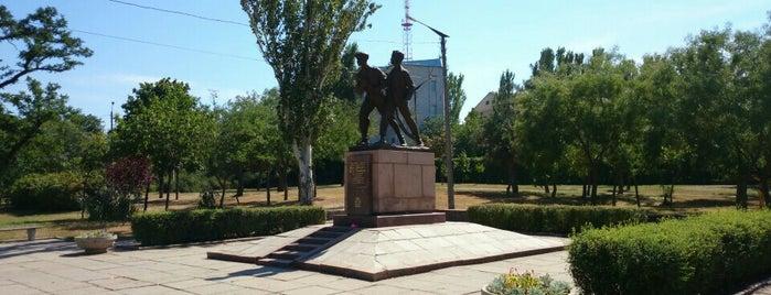 Памятник Шуре Коберу и Вите Хоменко is one of Oleksandr : понравившиеся места.