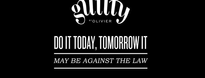 Guilty by Olivier is one of Spencer 님이 저장한 장소.