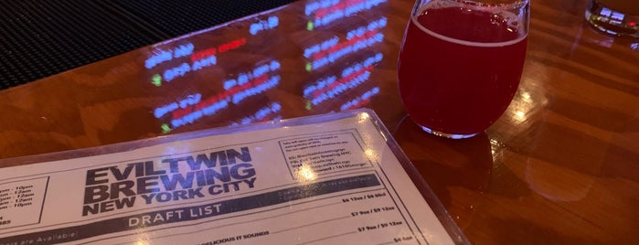 Evil Twin Brewing NYC is one of Happy Hour Spots.