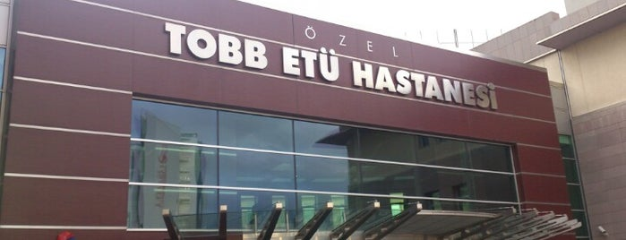 TOBB ETÜ Hastanesi is one of Lugares favoritos de Yasemin Angin.