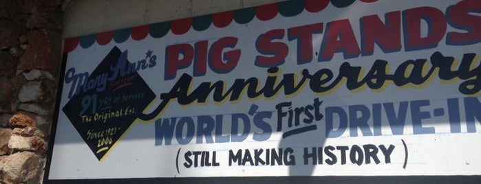 Mary Ann's Pig Stand is one of Texas.