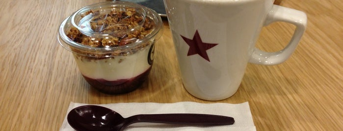 Pret A Manger is one of Best coffee stops in Cardiff.