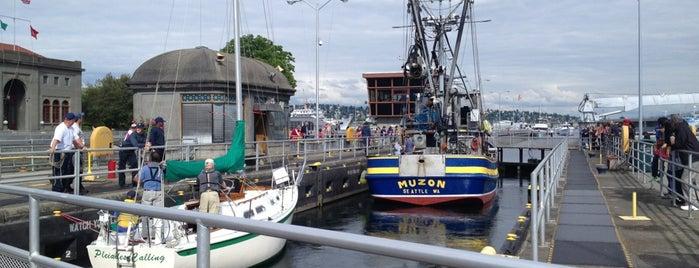 Hiram M. Chittenden Locks is one of Seattle.