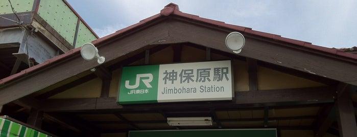 Jimbohara Station is one of JR 미나미간토지방역 (JR 南関東地方の駅).