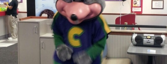 Chuck E. Cheese is one of Places I want to Go.