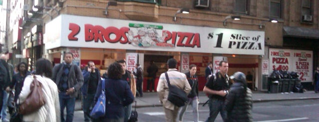 2 Bros. Pizza is one of NYC for Damo & Yuko.