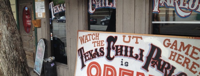 Texas Chili Parlor is one of TV Food Spots: Austin Metro Area.