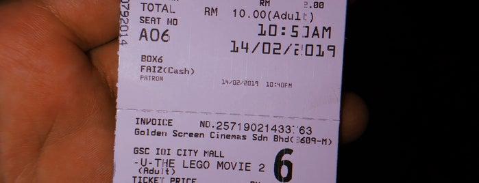 Golden Screen Cinemas (GSC) is one of Locais curtidos por Dyah.