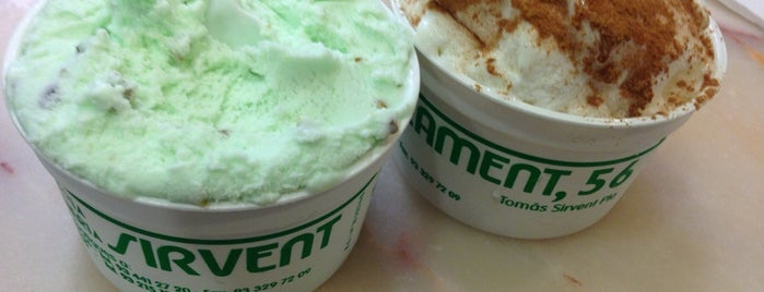 Horchatería Sirvent is one of Els millors gelats de Barcelona.