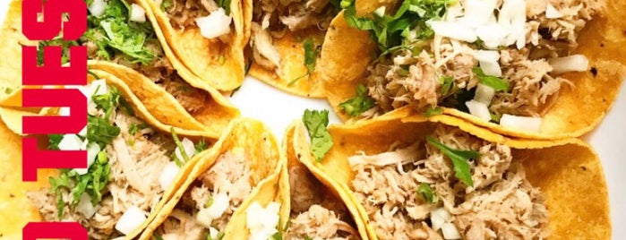 Tacos & Salsa is one of Tempat yang Disimpan Bridget.