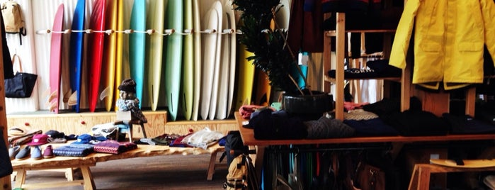 Pilgrim Surf + Supply is one of NYC shops.
