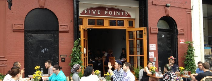 Five Points is one of Eat/drink outside & downtown(ish).